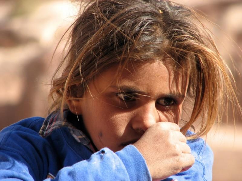 A Beduin girl in Petra, jordan
