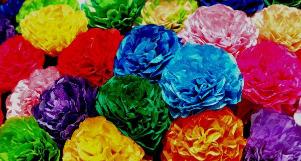 Tissue Paper Roses....