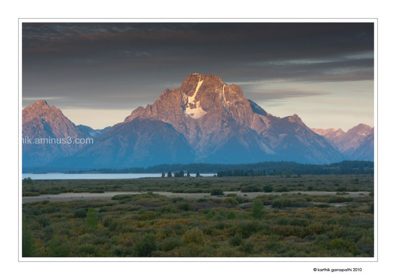 Sunrise on Mount Moran