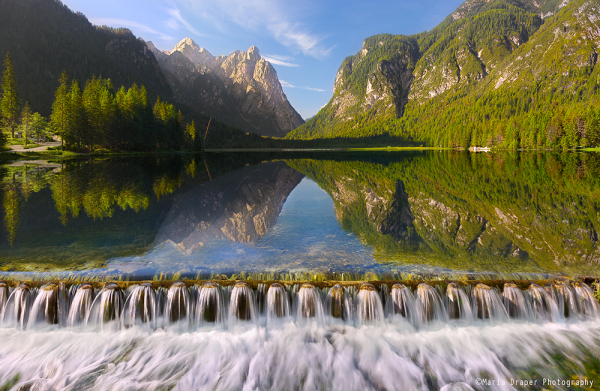 Lake Dobbiaco, South Tyrol, Italy