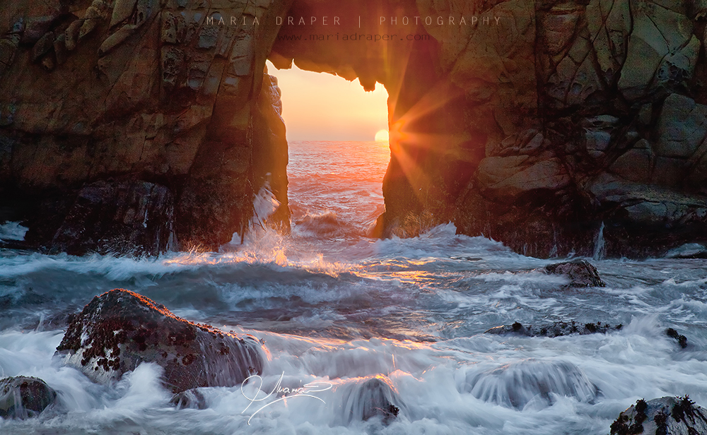 Pfeiffer Rock Portal, Big Sur, California