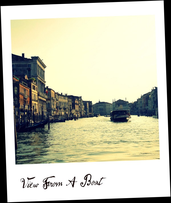 View From A Boat (Venise/Venice)