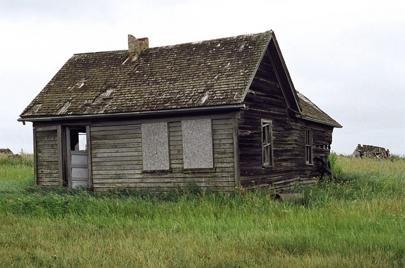 Abandoned house near Blaine Lake, Saskatchewan