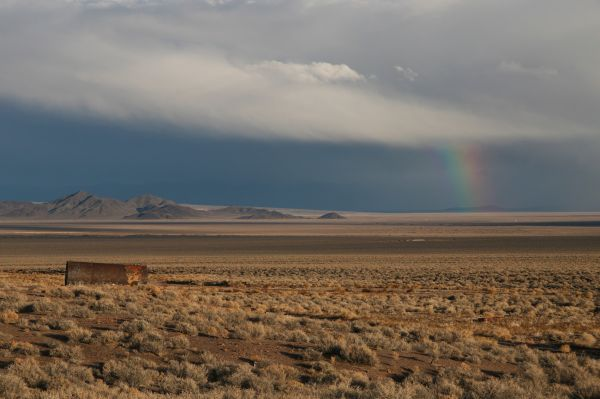 Nevada desert rainbow