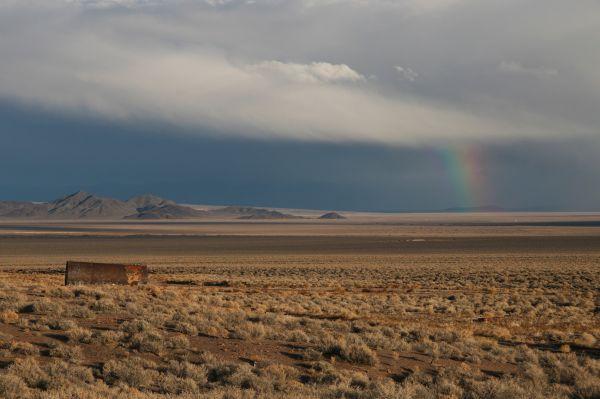 Nevada desert rainbow