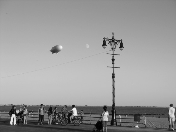 blimp moon lamp post boardwalk coney island