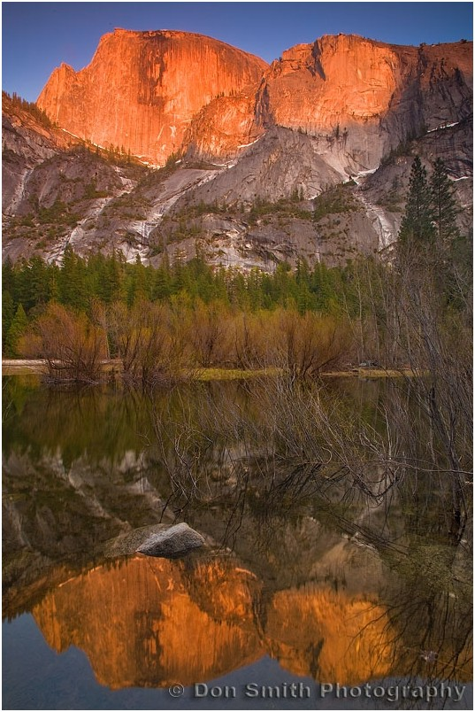 Half Dome refelcts in Mirror Lake
