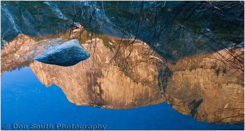 Half Dome reflection in Mirror Lake