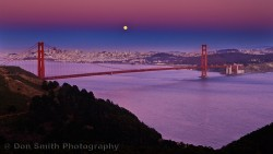 Solstice Moon Over San Francisco