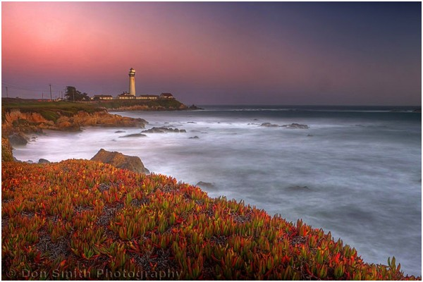 Twilight at Pigeon Point, Santa Cruz, California