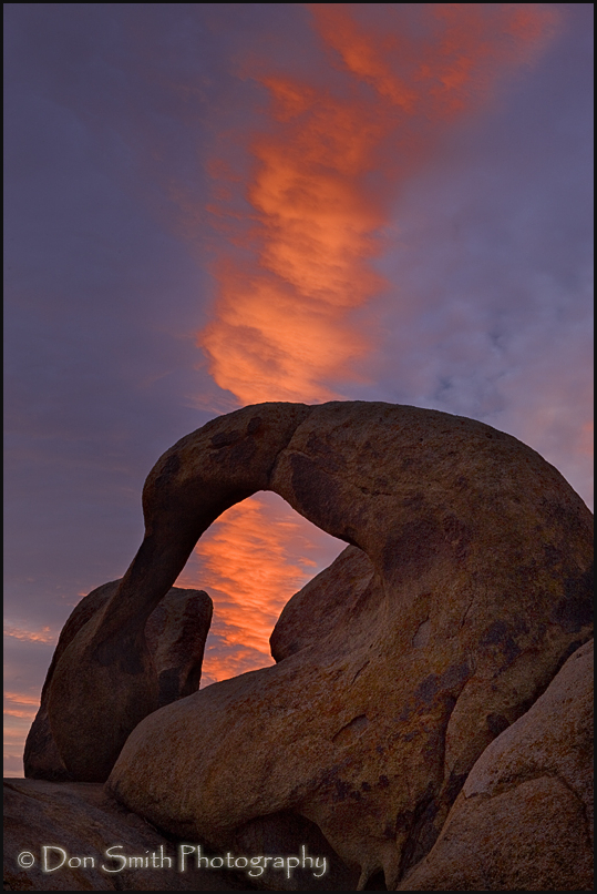Lit Cloud Over Whitney Arch