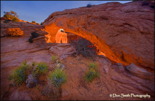 Magic Light at Mesa Arch