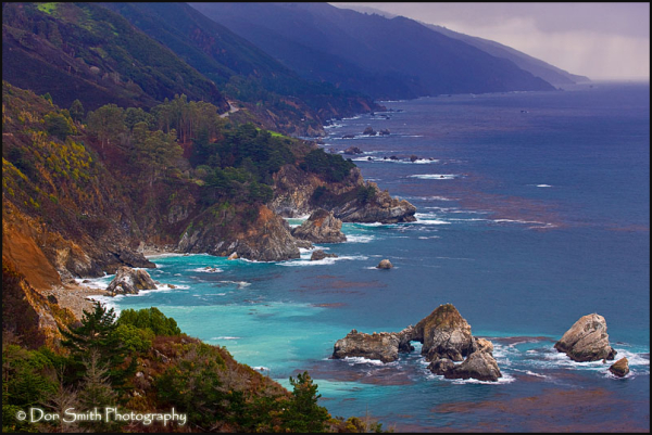 Sea Cave and Big Sur Headlands