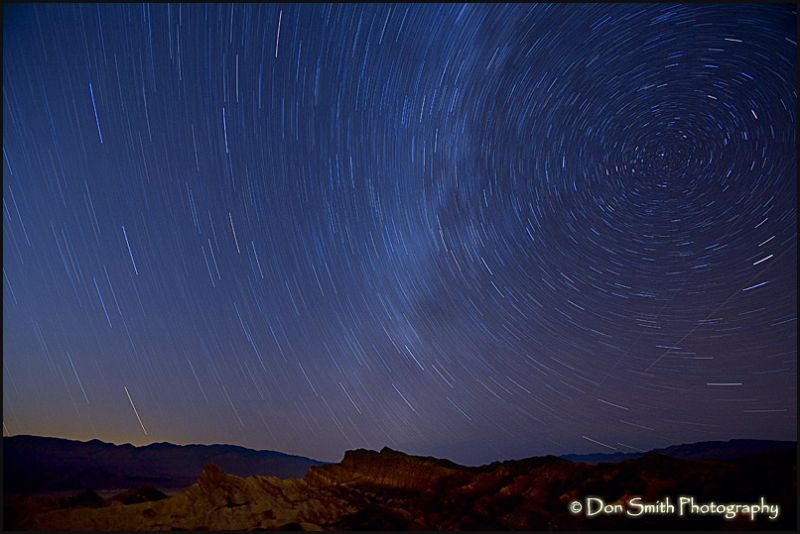 Star Trails Over Zabriskie Point