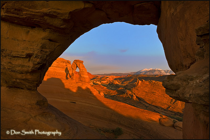 Delicate Arch through Frame Arch