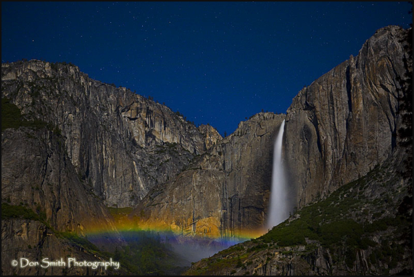 Lunar Rainbow Over Yosemite Falls