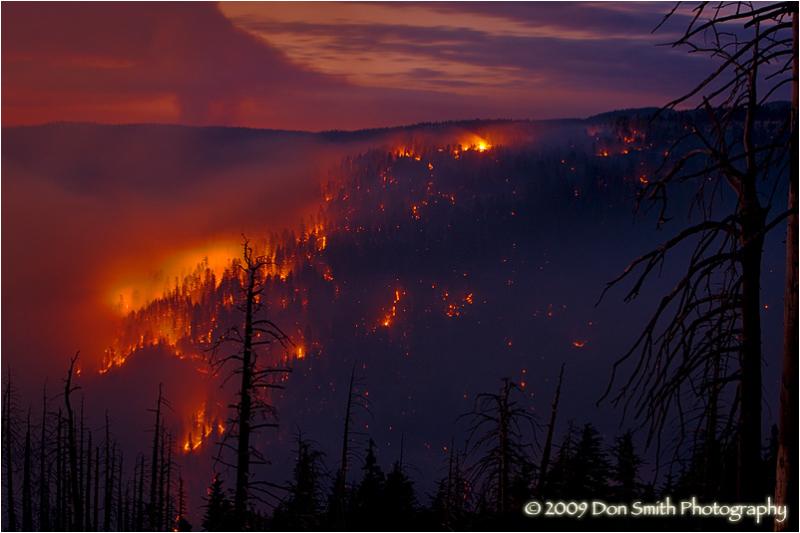 Grouse fire, Yosemite National Park