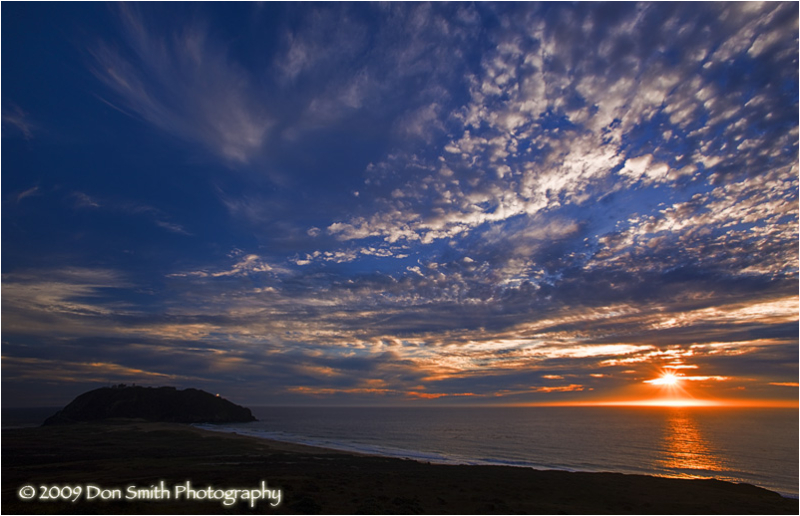 Painterly summer sky over Pt. Sur, Big Sur