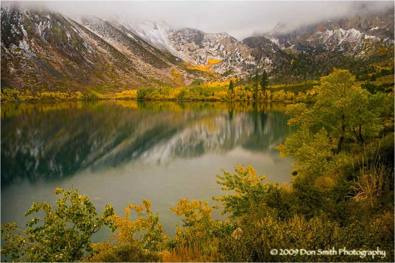 Fall color and snow at Convict Lake