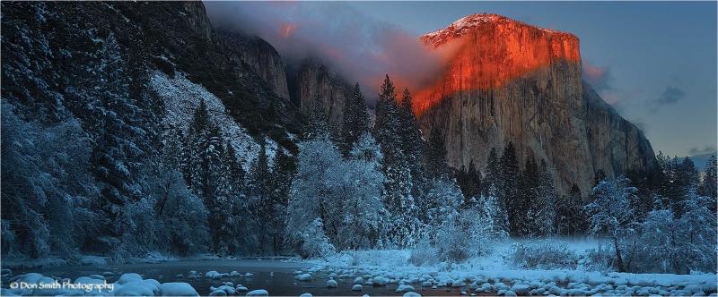 Alpenglow on El Capitan, Yosemite National Park