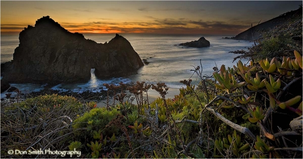 Winter sunset at Pfeiffer Beach, Big Sur, Ca.