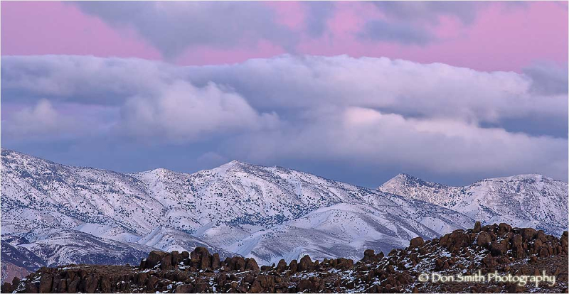 Winter Sunset on Inyo Mountains
