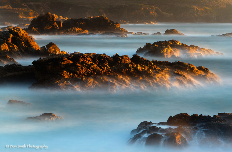 Misty surf at Garrapata State Park, Big Sur, Ca.