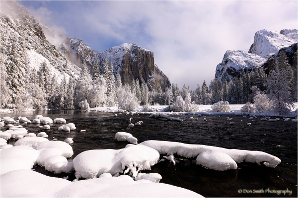 Clearing winter storm, Valley View, Yosemite.