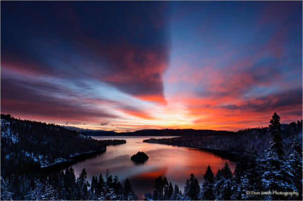 Dawn Light Over Emerald Bay, Lake Tahoe, Californi