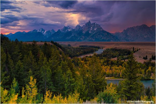Snake River Overlook and evening storm.