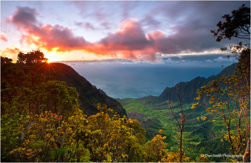 Sunset from Kalalau Lookout, Kauai