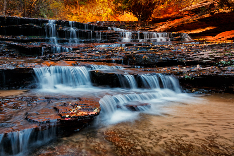 Arch Angel Falls, Zion National Park, Utah