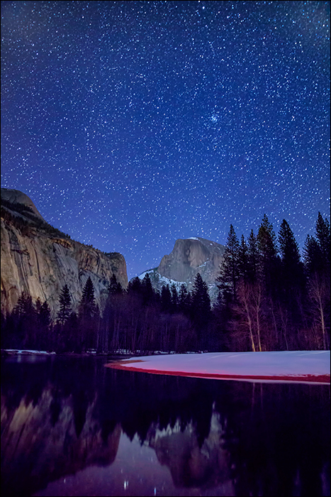 Camp 6 and winter sky, Yosemite National Park.