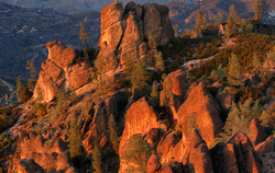 Last Light on High Peaks, Pinnacles NP