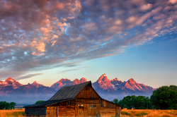 Sunrise, Moulton Barn, Grand Teton National Park
