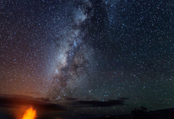 Caldera Under the Milky Way, Volcanoes NP
