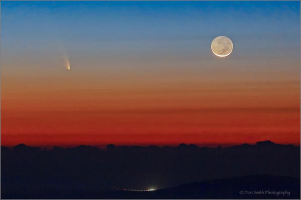 Comet Pan-STARRS and Crescent, Haleakala NP, Maui