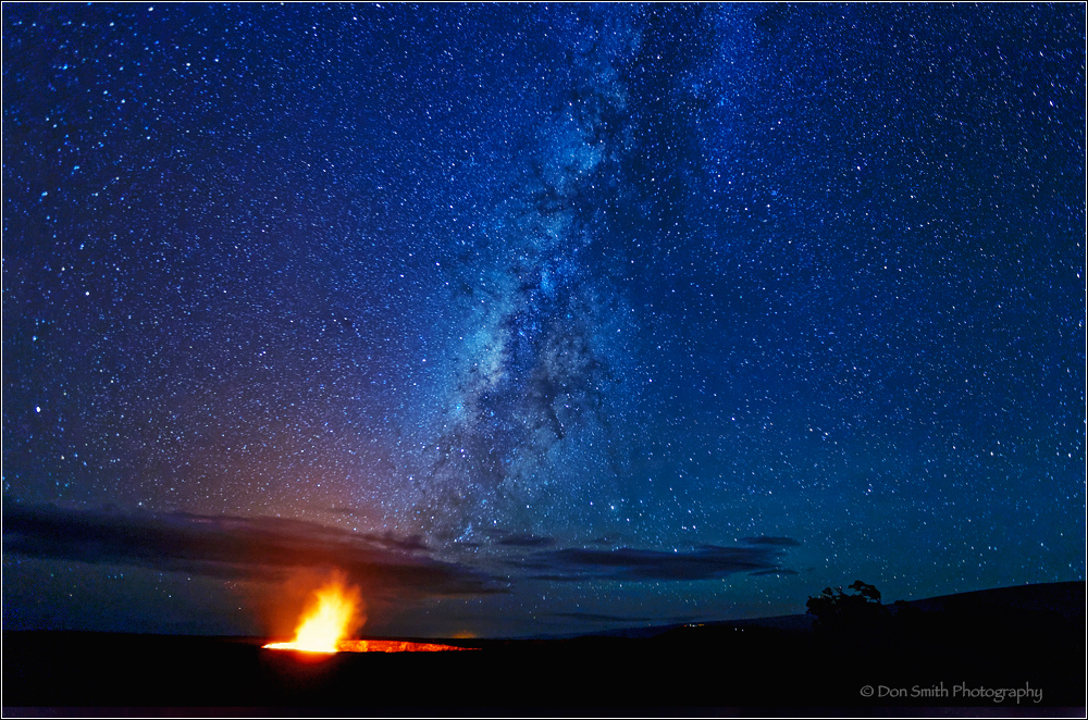 Kilauea Caldera and Milky Way, Volcanoes NP