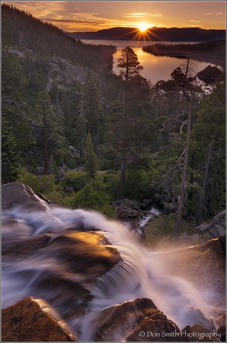 Eagle Falls Sunrise, Lake Tahoe, California, Emera