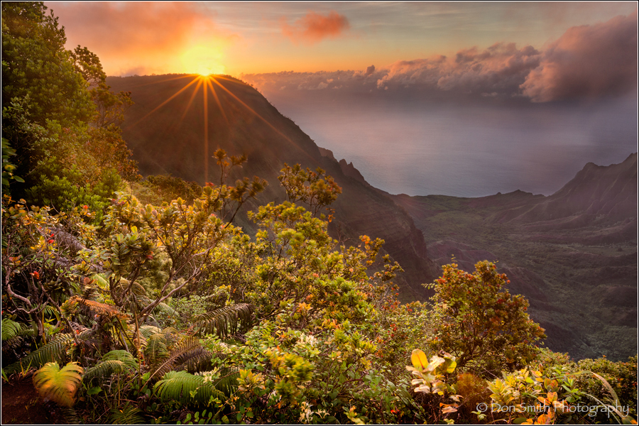 Pu'u Kila, sunset, Kauai, Don Smith Photo Workshop