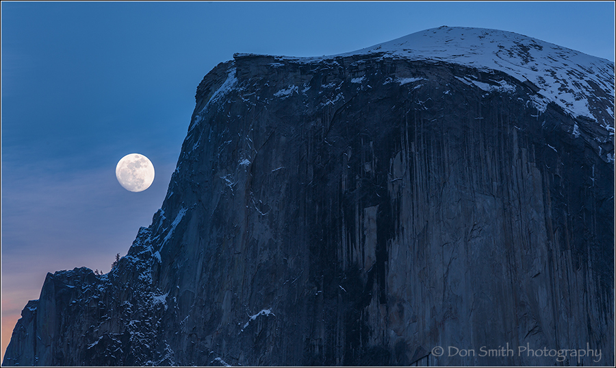 Moonrise Alongside Half Dome, Yosemite NP