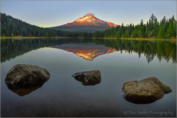 Mt Hood Reflection in Trillium Lake, Oregon
