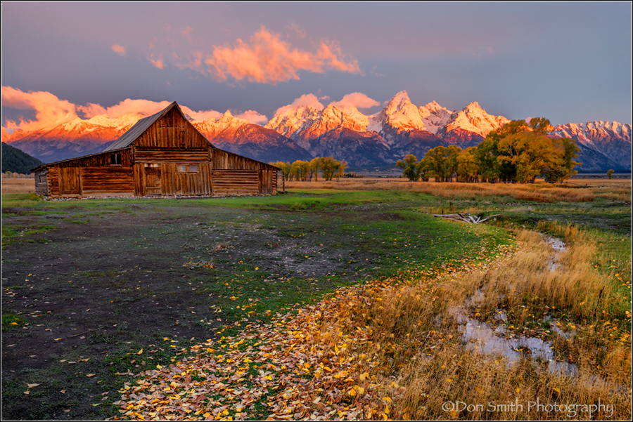Fall Morning, Moulton Barns, Grand Teton National