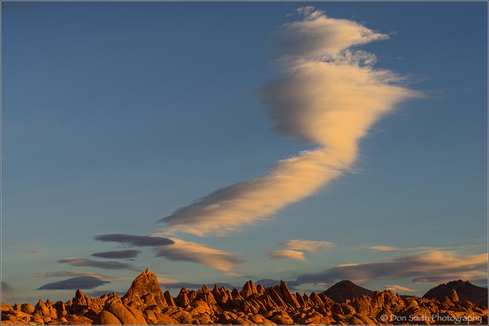 Funnel Cloud Over Alabama Hills, Lone Pine, CA
