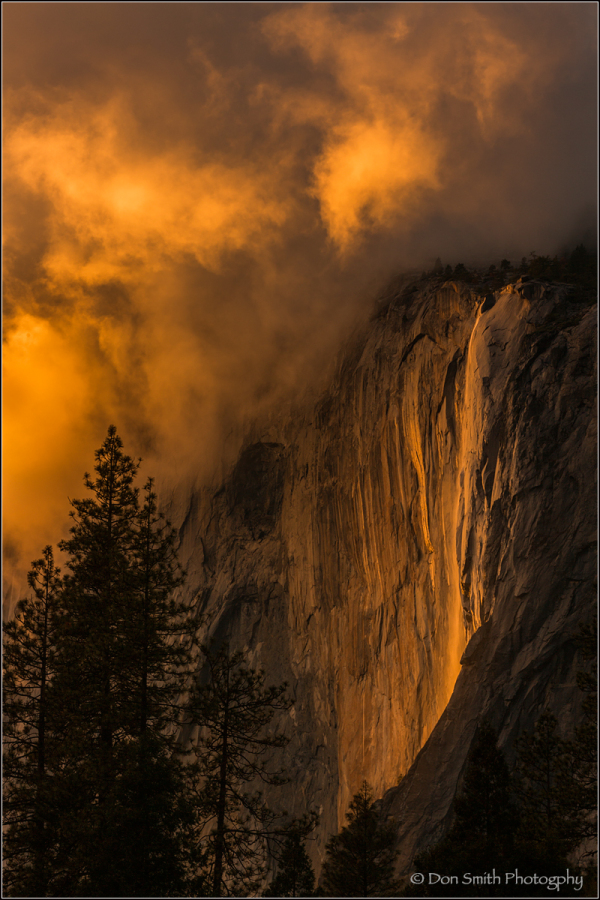Storm Clouds Over Horsetail Fall, Yosemite NP