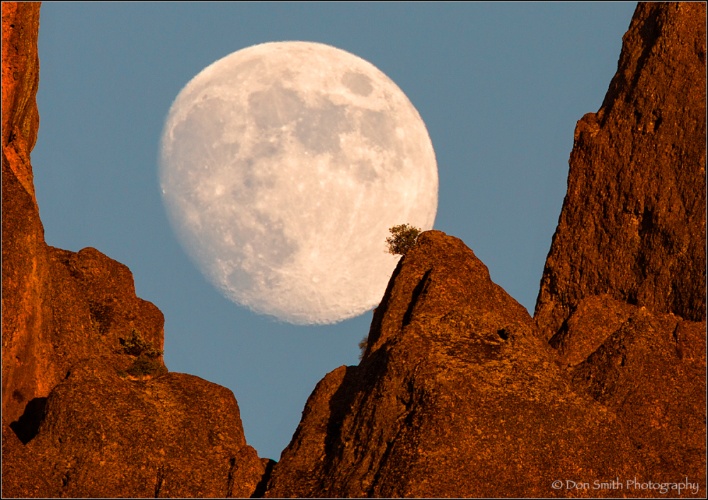 Moonrise Over High Peaks, Pinnacles National Park