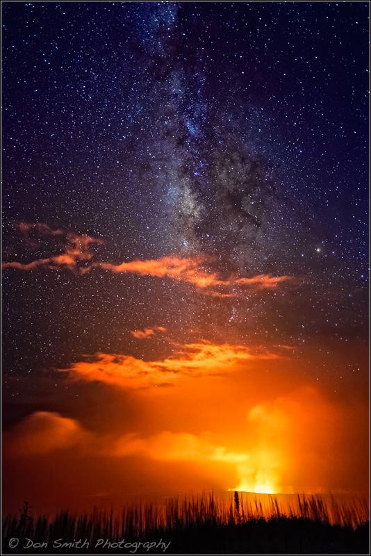 Kilauea Caldera and Milky Way