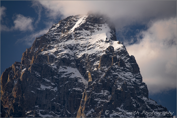 First snow of season on Grand Teton Peak