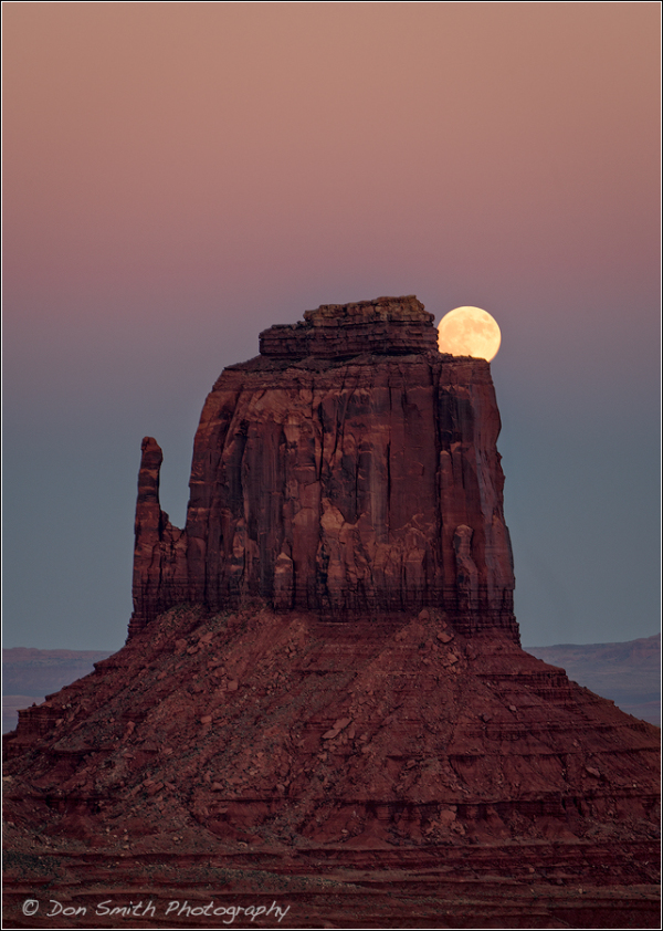 Moon Over East Mitten, Monument Valley, Utah
