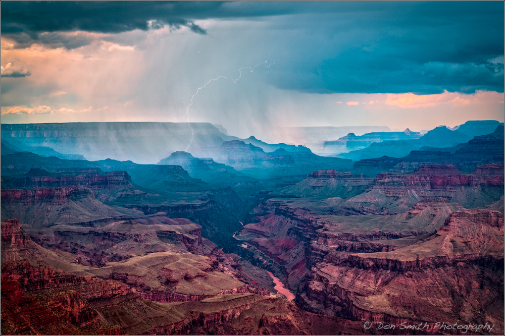 Lightning Strike Over Grand Canyon NP